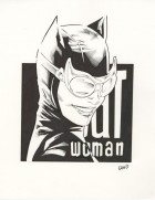 CBLDF - CATWOMAN PROFILE PIN-UP ILLUSTRATION