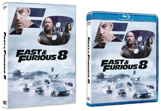 both the dvd and the blu ray of fast furious 8 include various extras. Black Bedroom Furniture Sets. Home Design Ideas