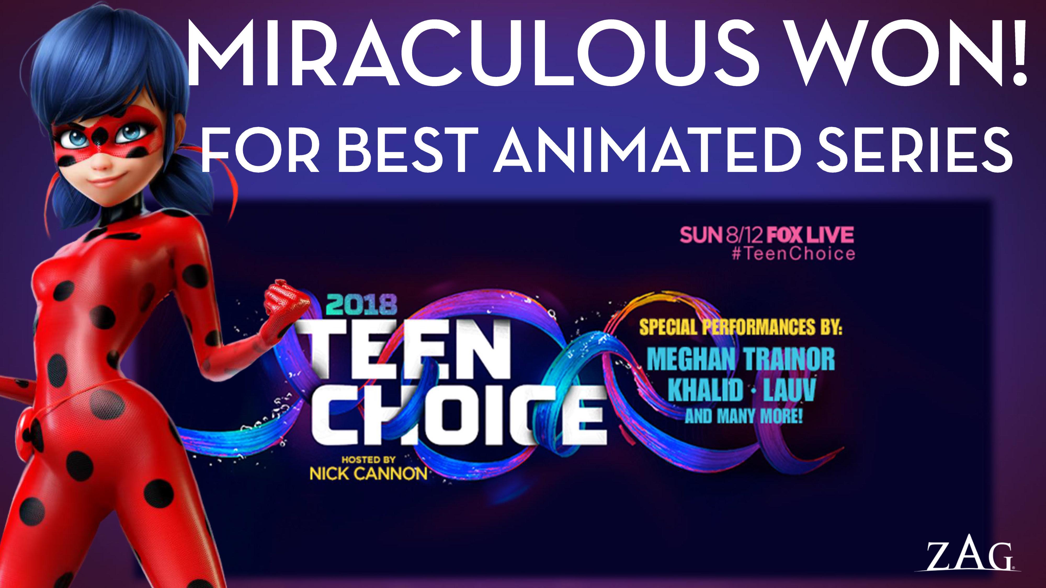 Miraculous Ladybug Christmas Special.Miraculous Tales Of Ladybug Cat Noir Wins Teen Choice